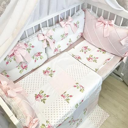 Shebby Shick   Crib Bedding Set