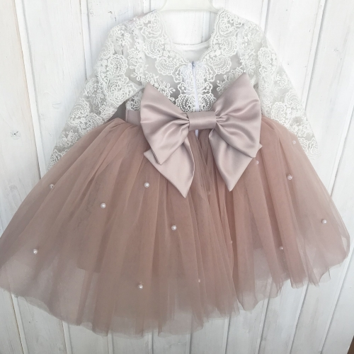 Pink Mesh | Baby Dress