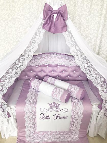 Lilac Waltz | Crib Bedding Set