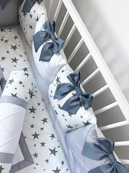 Grey Stars | Crib Bedding Set