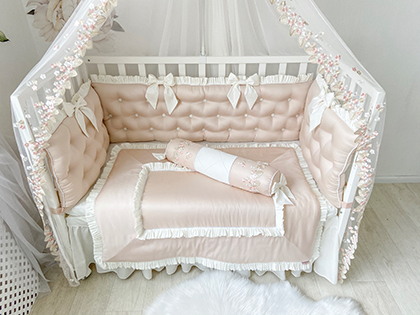 Powdery Tenderness | Crib Bedding Set