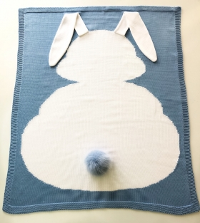 Bunnies Blue | Luxe Baby Blanket