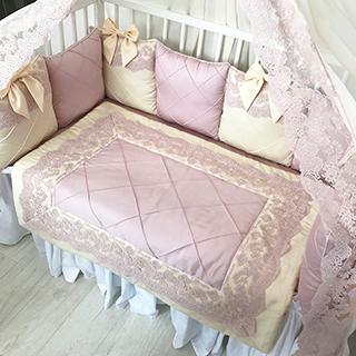 Pink Creamy Tale | Crib Bedding Set
