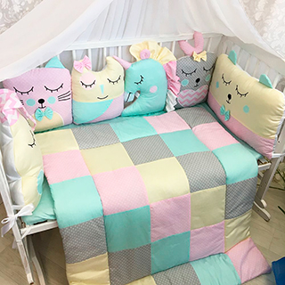Flower country | Crib Bedding Set