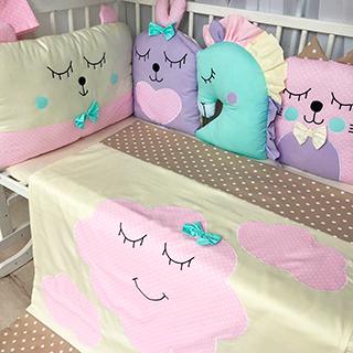 Funny Animals | Crib Bedding Set
