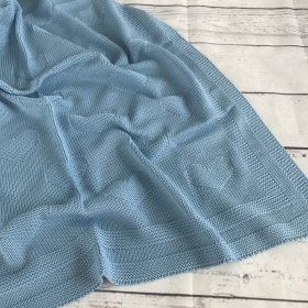 Hearts Blue | Luxe Baby Blanket