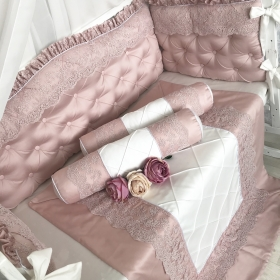 Dusty Rose | Crib Bedding Set