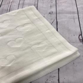 Hearts Milky | Luxe Baby Blanket