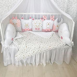 Pink Gold | Crib Bedding Set