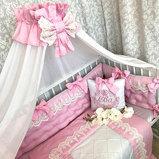 Pink childhood | Crib Bedding Set