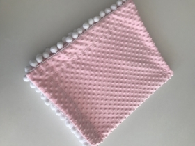 Plush Baby Blanket | pink & white
