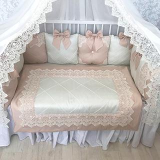 Powdery Joy | Crib Bedding Set