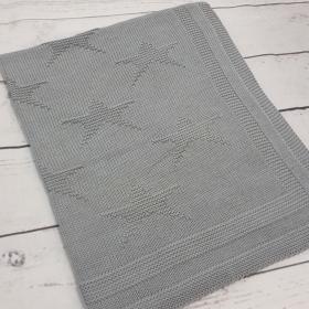 Stars Gray | Luxe Baby Blanket