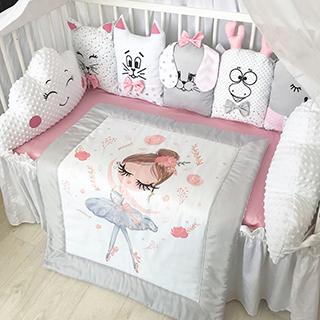 Ballerina Dancer | Crib Bedding Set
