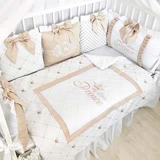 Beige classic | Crib Bedding Set