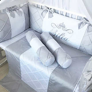 Grey cloud | Crib Bedding Set