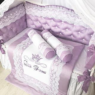 Lilac Waltz | Crib Bedding Set
