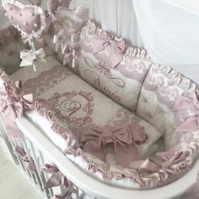 Oval Marshmallow | Crib Bedding Set