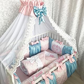 Summer sky | Crib Bedding Set