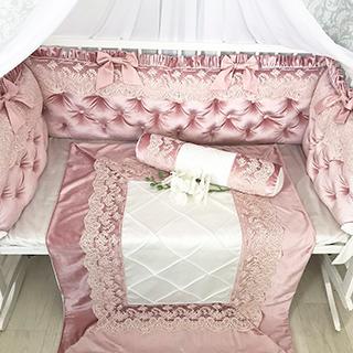 Velor Dusty Rose | Crib Bedding Set