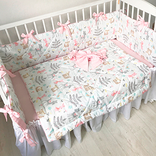 Animals in the Meadow | Crib Bedding Set