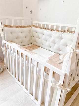 Beige Biscuit | Crib Bedding Set