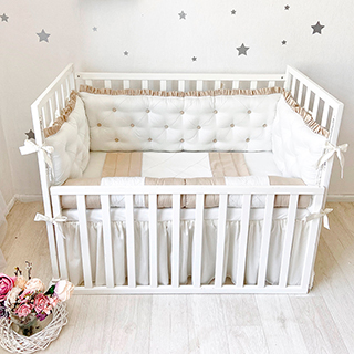 Beige Biscuit | Crib Bedding Set