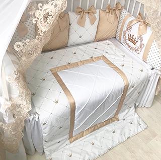 Creamy Tale | Crib Bedding Set