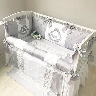 Gray Bear | Crib Bedding Set