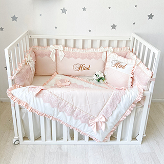 Peach Babybed | Crib Bedding Set