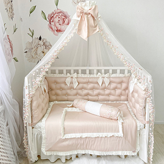 Powdery Tenderness | Crib Bedding Set