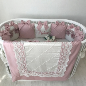 Powdery Pearls | Crib Bedding Set