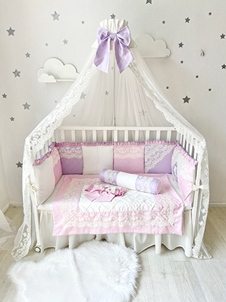 Royal Akvarel | Crib Bedding Set