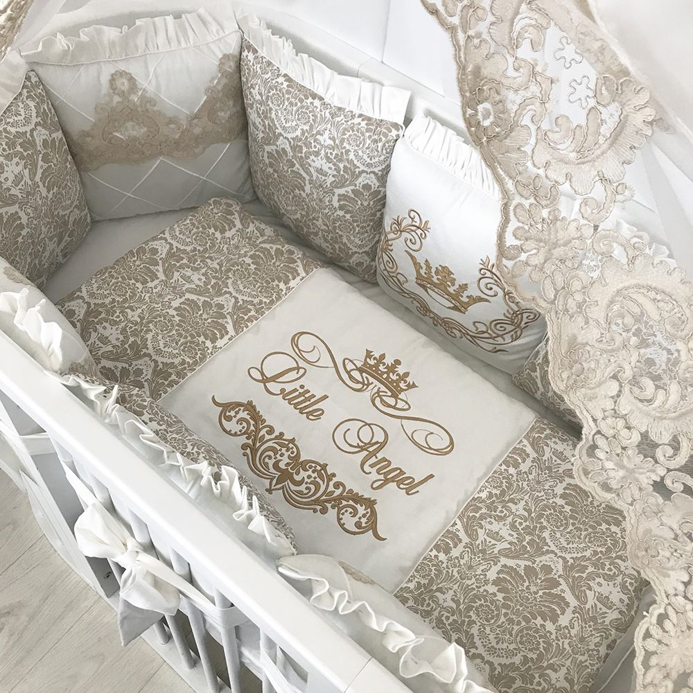 Brown Monograms | Crib Bedding Set